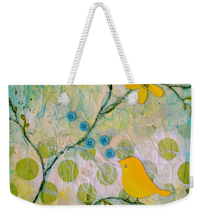 Bright Weekender Tote Bag featuring the painting All Things Bright And Beautiful by Carla Parris