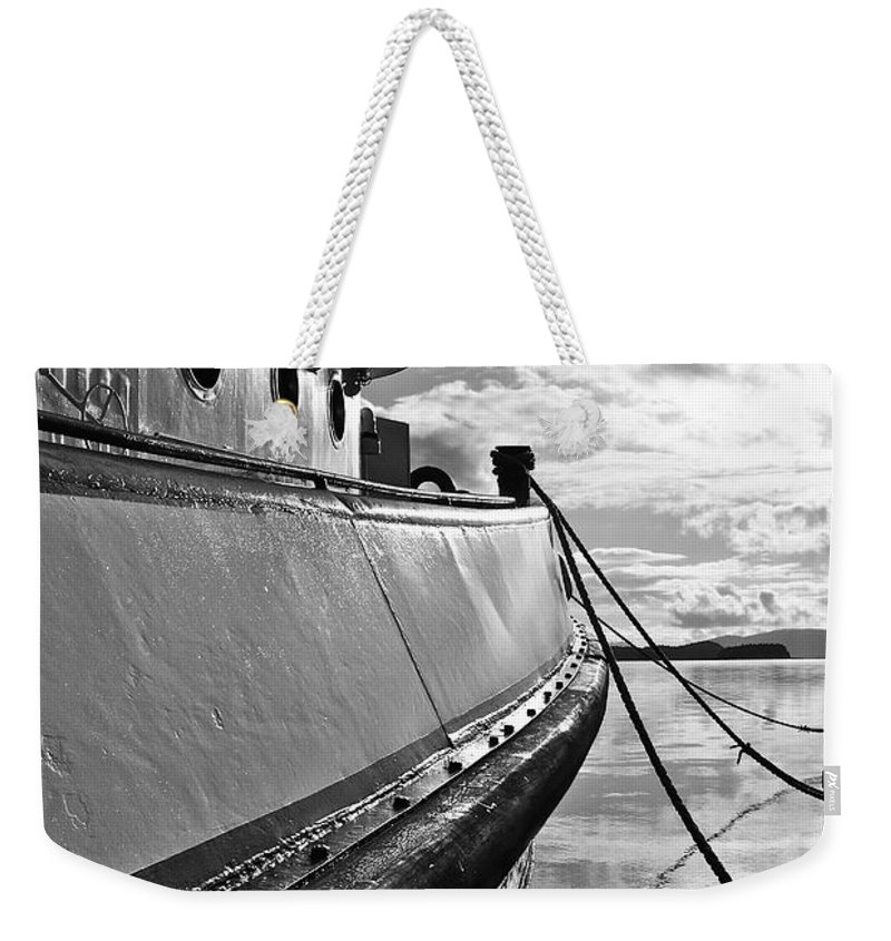 Boat Weekender Tote Bag featuring the photograph All Tied Up by Cathy Mahnke