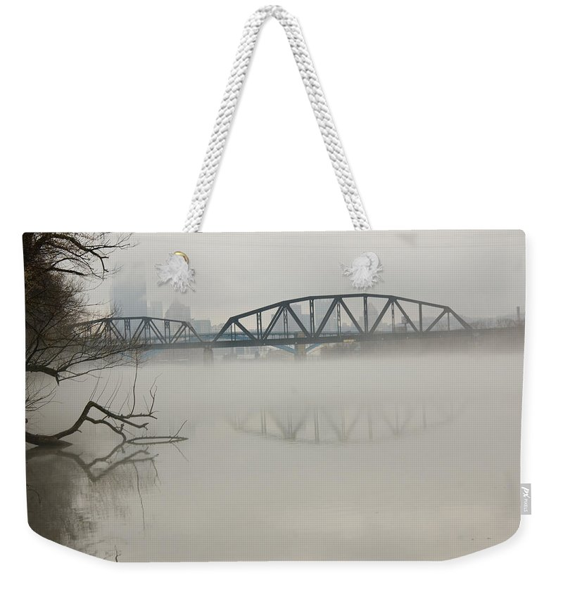 Landscape Weekender Tote Bag featuring the photograph Allegheny In The Mist by Jay Ressler