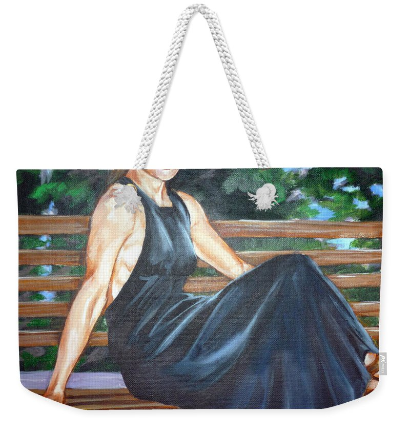 Sexy Weekender Tote Bag featuring the painting Allison Two by Bryan Bustard