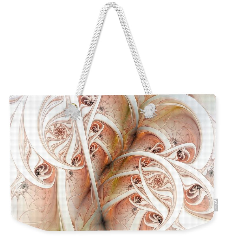 Abstract Weekender Tote Bag featuring the digital art Allure by Casey Kotas
