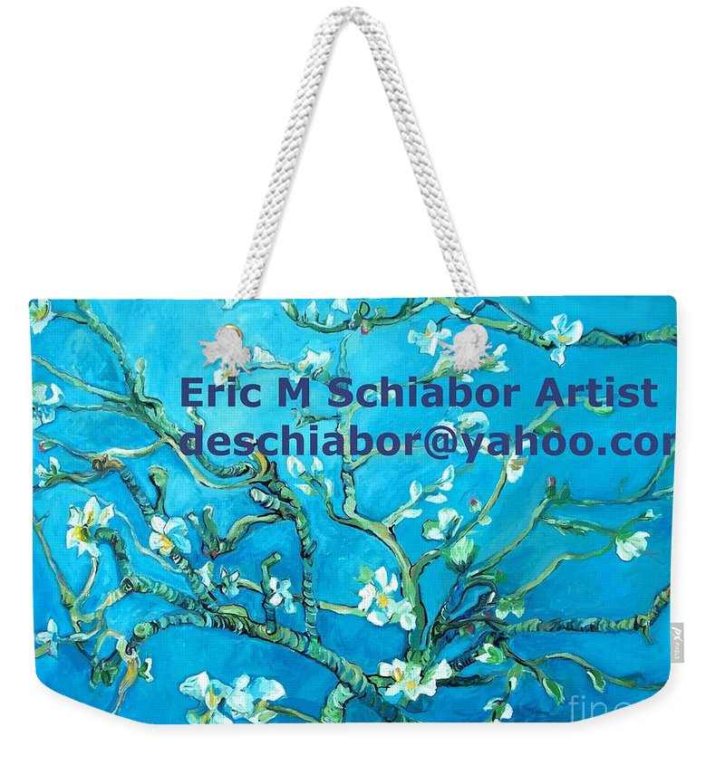 Almond Blossom Van Gogh Weekender Tote Bag featuring the painting Almond Blossom Branches by Eric Schiabor