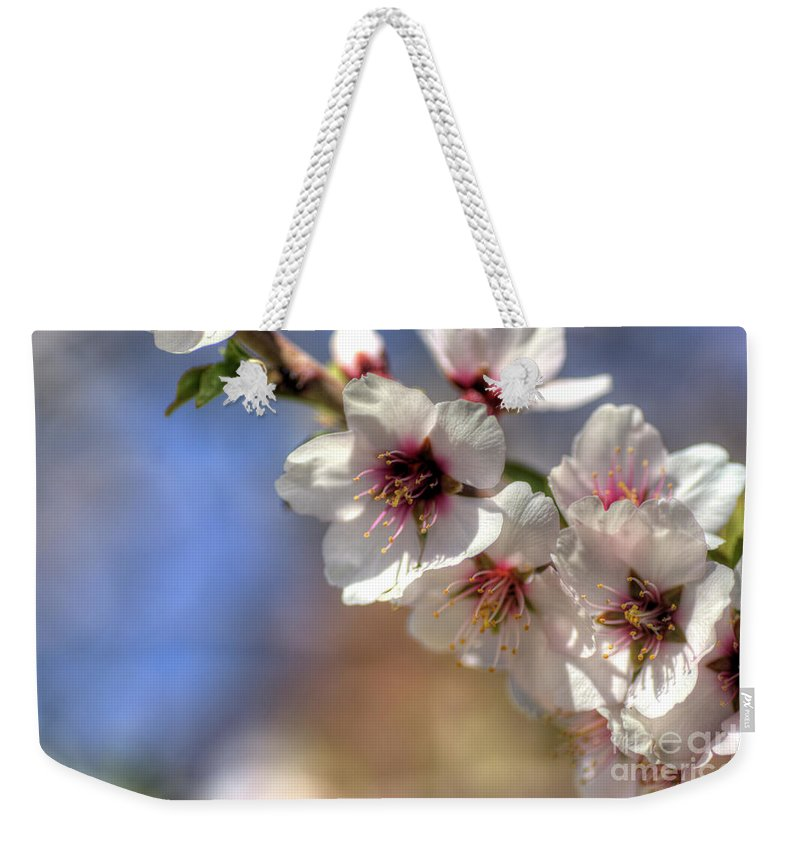 Almond Weekender Tote Bag featuring the photograph Almond Blossoms by Jim And Emily Bush