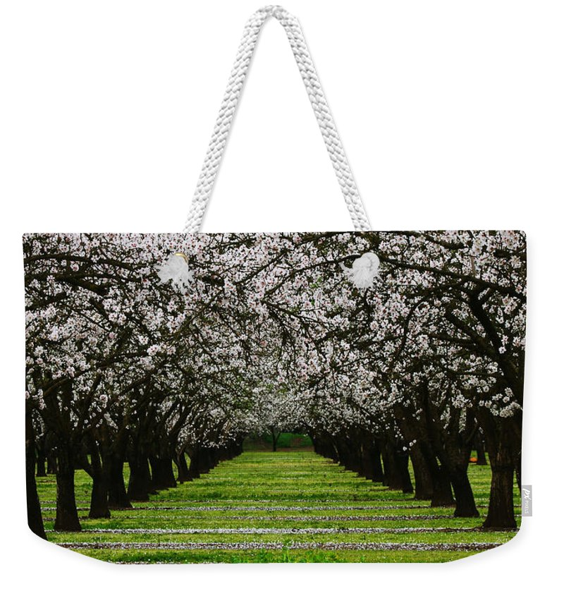 Almond Weekender Tote Bag featuring the photograph Almond Orchard by Robert Woodward