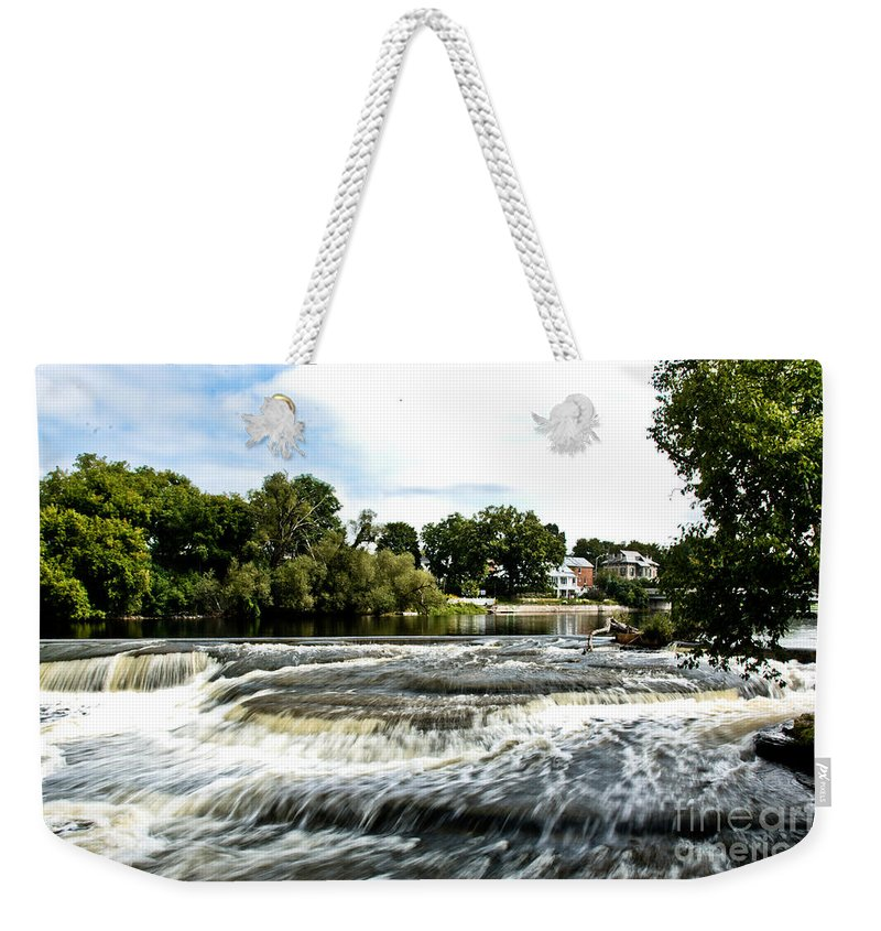 Weekender Tote Bag featuring the photograph Almonte Falls by Cheryl Baxter