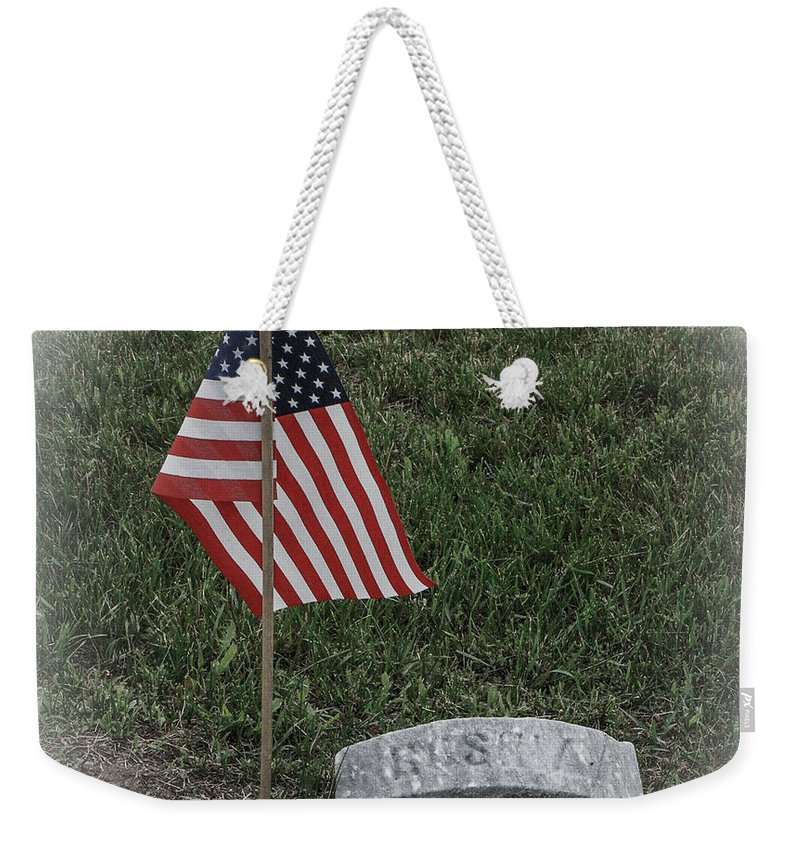 Cemetery Weekender Tote Bag featuring the photograph Almost Lost But Not Forgotten by Grace Grogan
