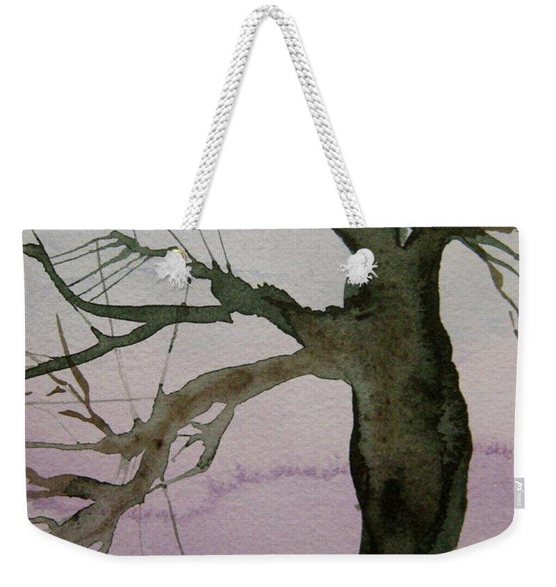 Tree Weekender Tote Bag featuring the painting Almost Spring by Beverley Harper Tinsley