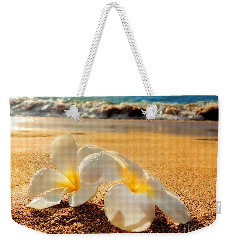 Aloha Weekender Tote Bag featuring the photograph Aloha by Kristine Merc