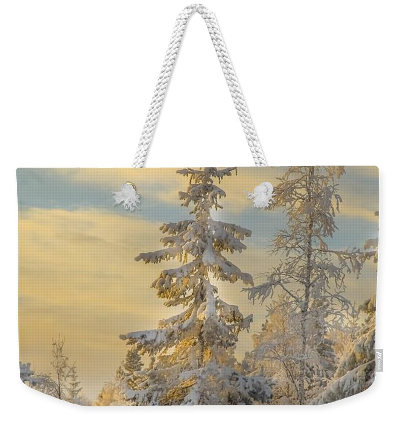 Landscape Weekender Tote Bag featuring the photograph Alone But Strong by Rose-Maries Pictures