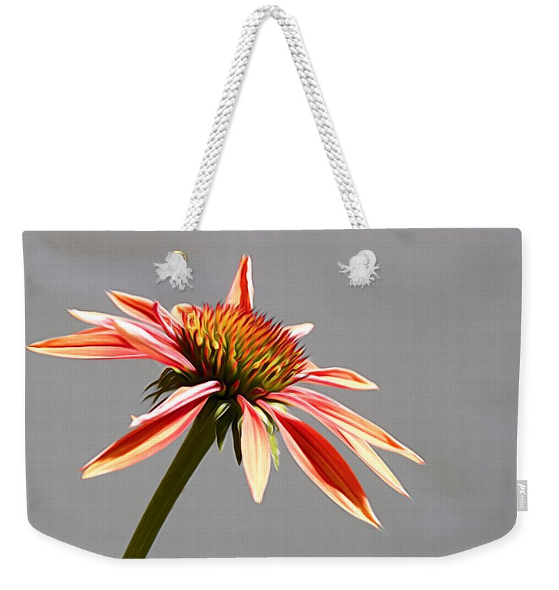 Flower Weekender Tote Bag featuring the photograph Alone In Her Beauty by Alice Gipson