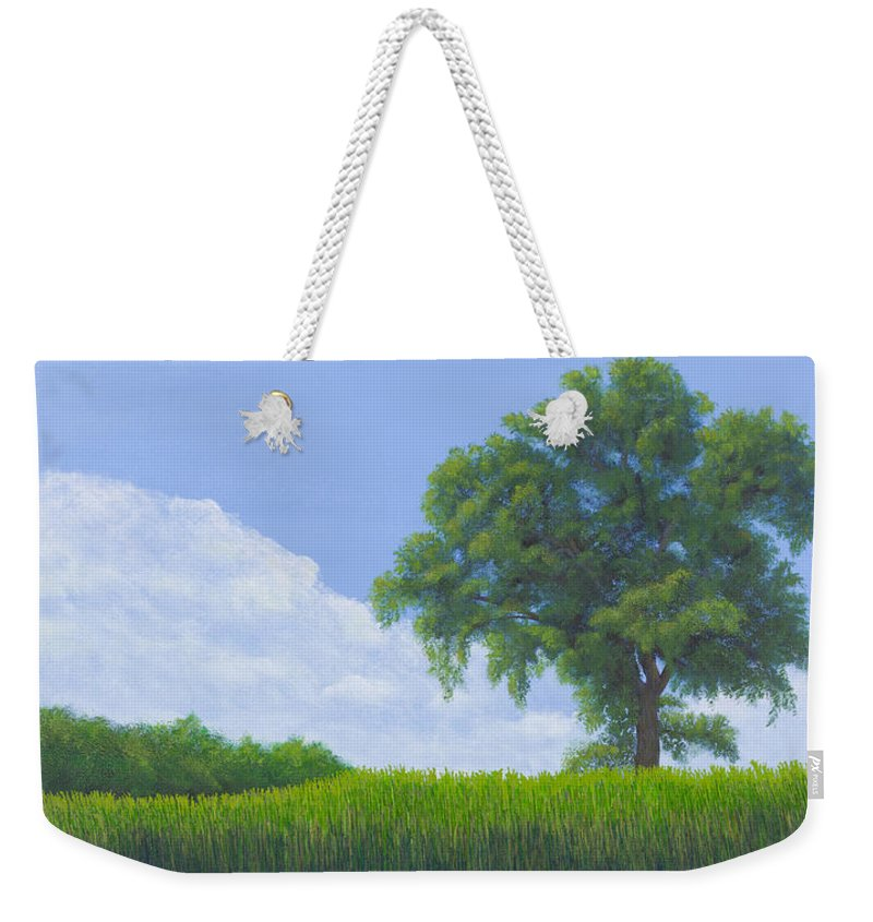 Cottonwood Tree Weekender Tote Bag featuring the painting Alone Summer by Garry McMichael