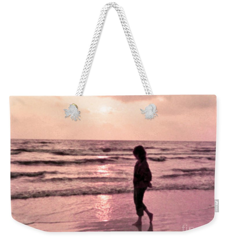 Beach Weekender Tote Bag featuring the photograph Alone With God by Lydia Holly