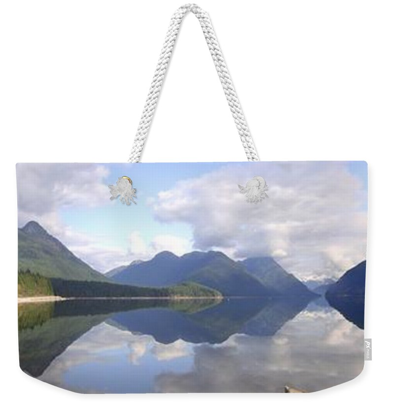 Panorama Weekender Tote Bag featuring the photograph Alouette Lake Reflections - Golden Ears Prov. Park, Maple Ridge, British Columbia by Ian Mcadie