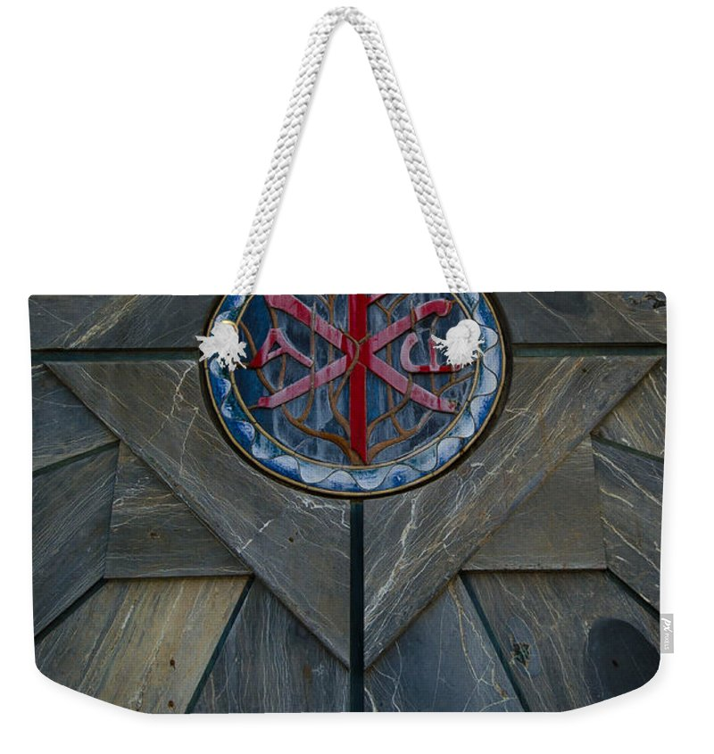 Jesus Weekender Tote Bag featuring the photograph Alpha And Omega Chi Rho by David Morefield