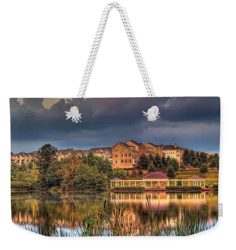 Atlanta Weekender Tote Bag featuring the photograph Alpharetta by Anna Rumiantseva