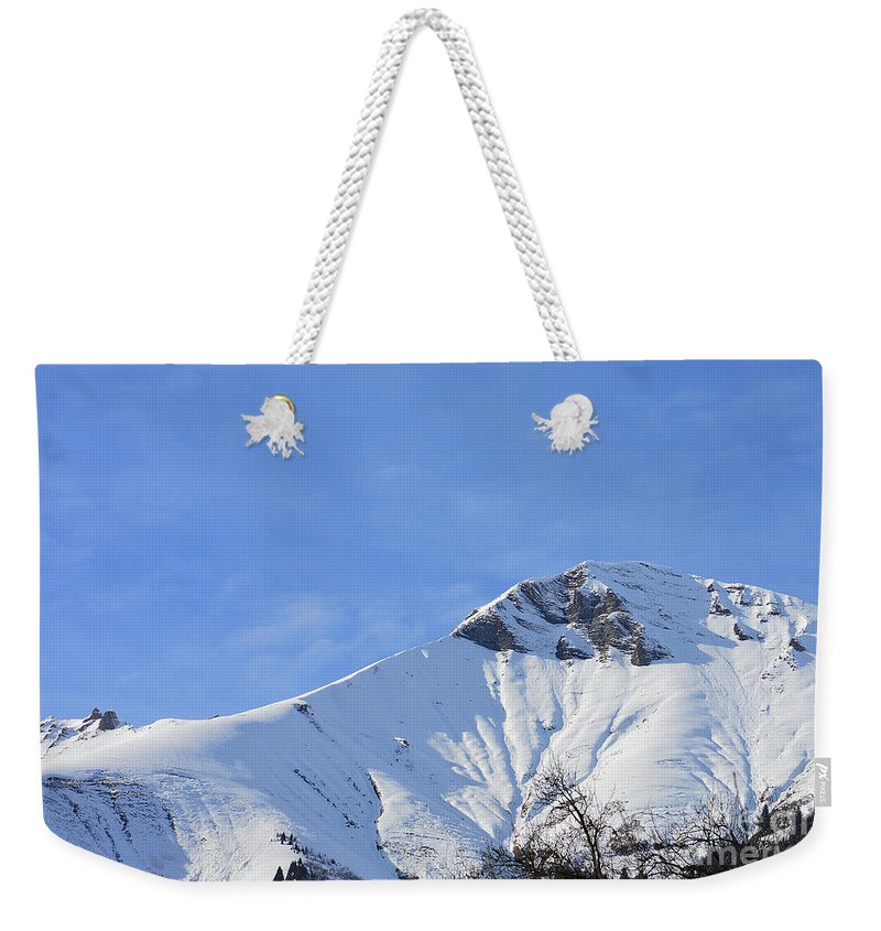 Vista Weekender Tote Bag featuring the photograph Alps Vista by Felicia Tica