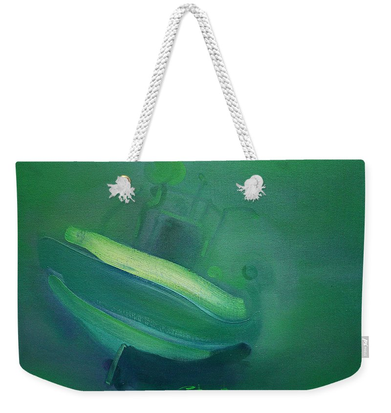 Fishing Boat Weekender Tote Bag featuring the painting Alvor Working Boat by Charles Stuart