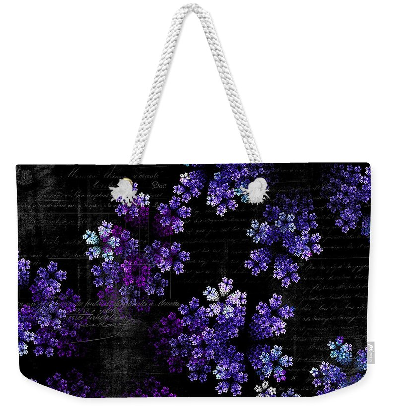 Alyssum Weekender Tote Bag featuring the photograph Alyssum by Sylvia Thornton