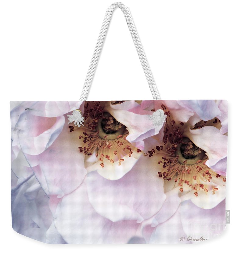 Flora Weekender Tote Bag featuring the photograph Am I Not Pretty Enough ... by Chris Armytage