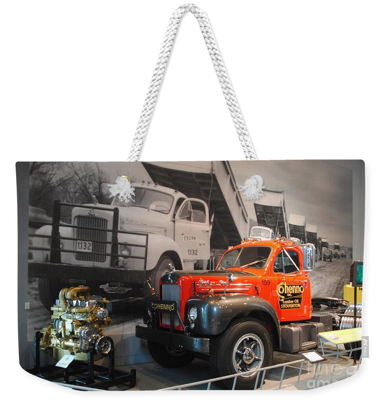 America On Wheels Weekender Tote Bag featuring the photograph America On Wheels Museum - 4 by Jacqueline M Lewis