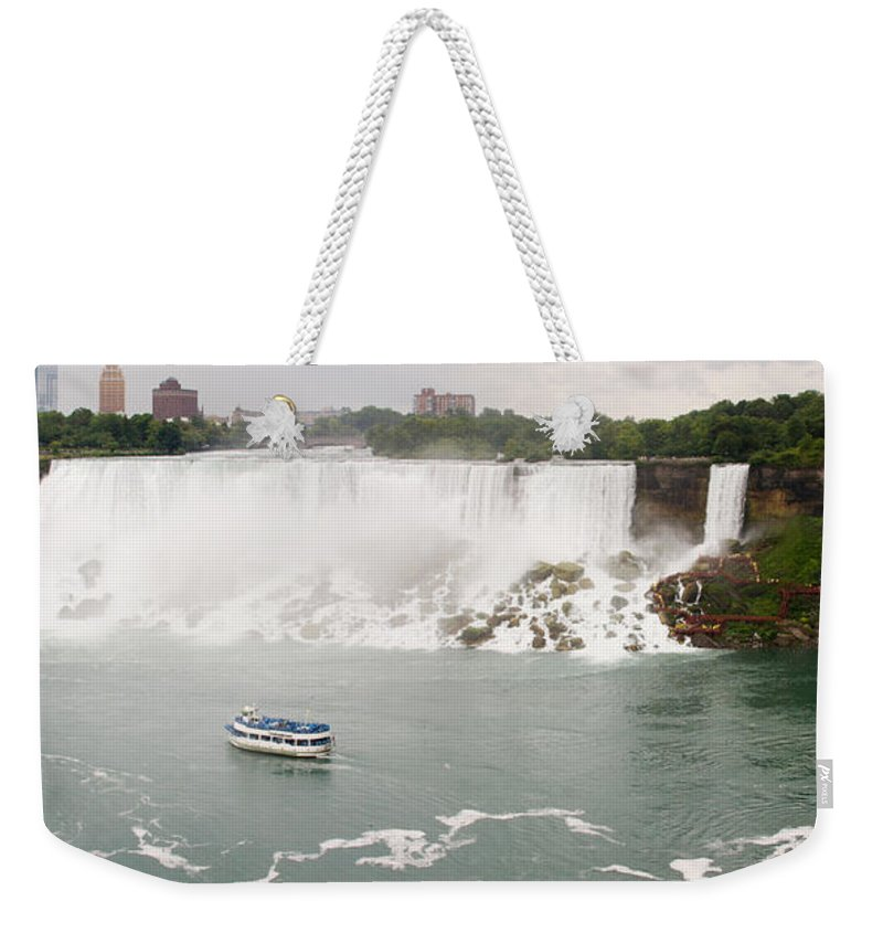 3scape Weekender Tote Bag featuring the photograph American Falls by Adam Romanowicz