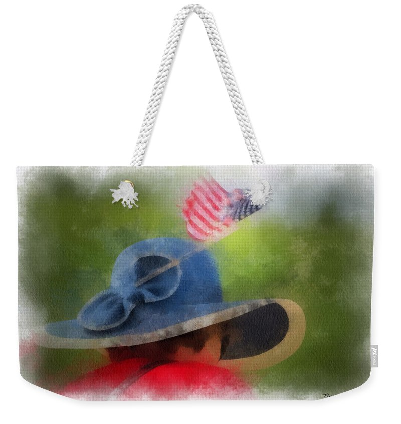 Flag Weekender Tote Bag featuring the photograph American Flag Photo Art 05 by Thomas Woolworth