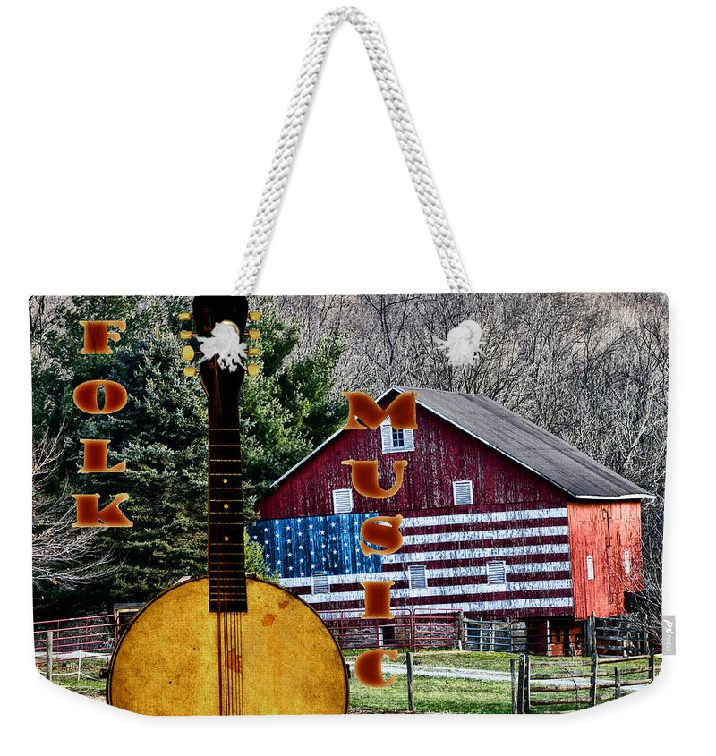 American Weekender Tote Bag featuring the photograph American Folk Music by Bill Cannon