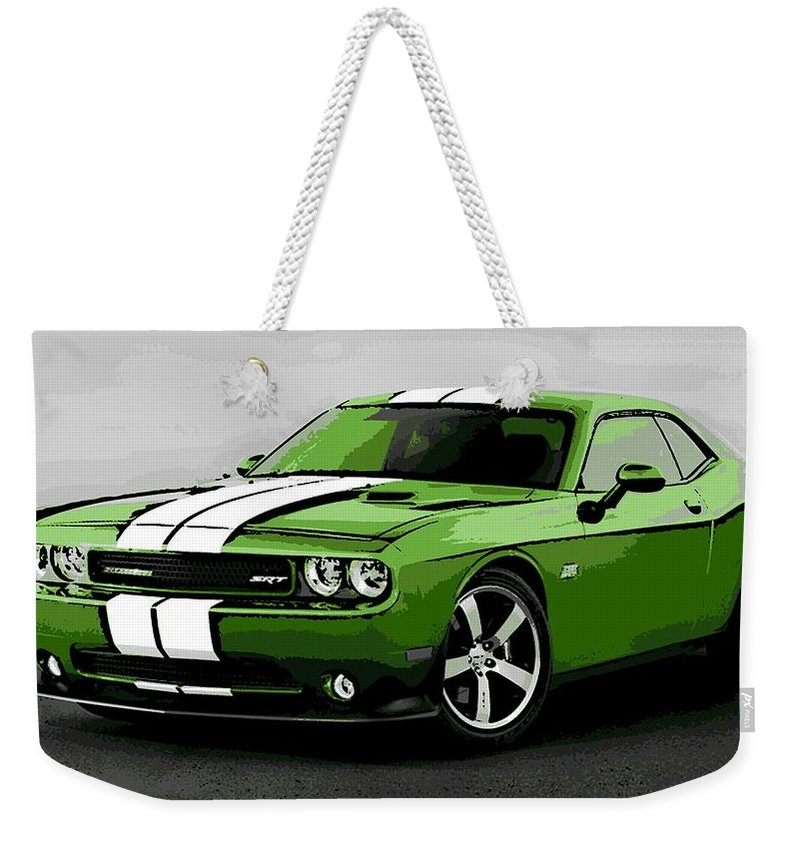 Dodge Weekender Tote Bag featuring the photograph American Muscle by George Pedro