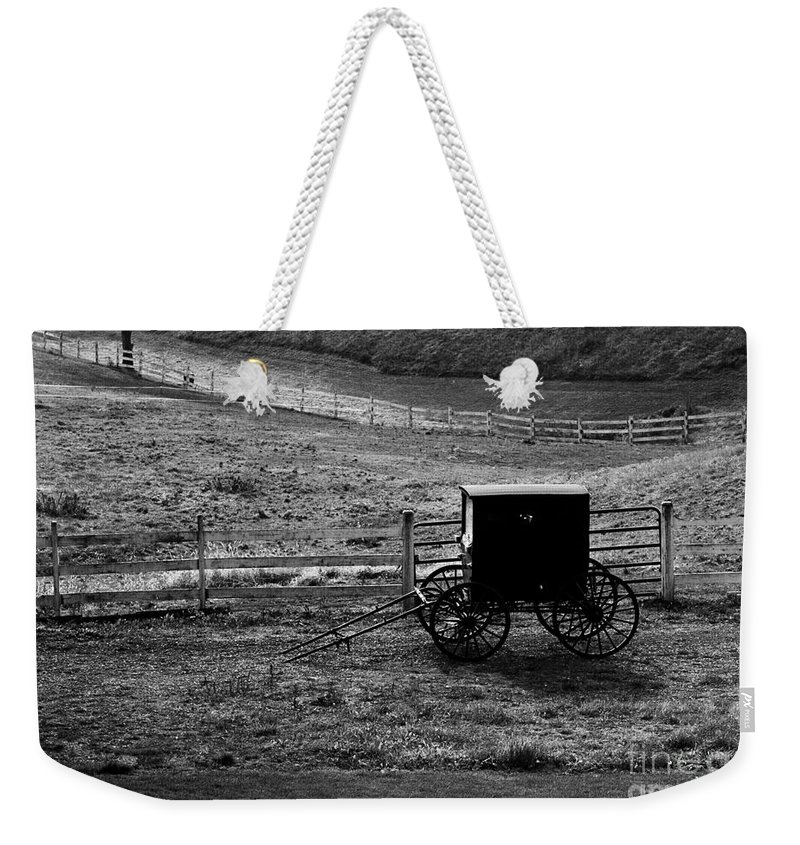 Amish Weekender Tote Bag featuring the photograph Amish Buggy by Kathleen Struckle
