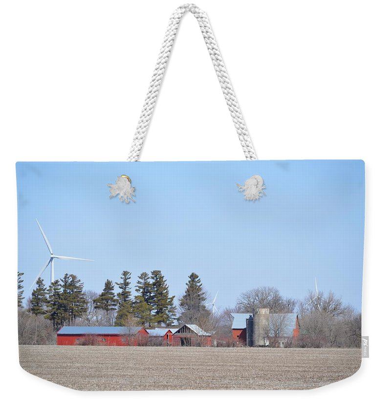 Landscape Weekender Tote Bag featuring the photograph Amish Country by Bonfire Photography