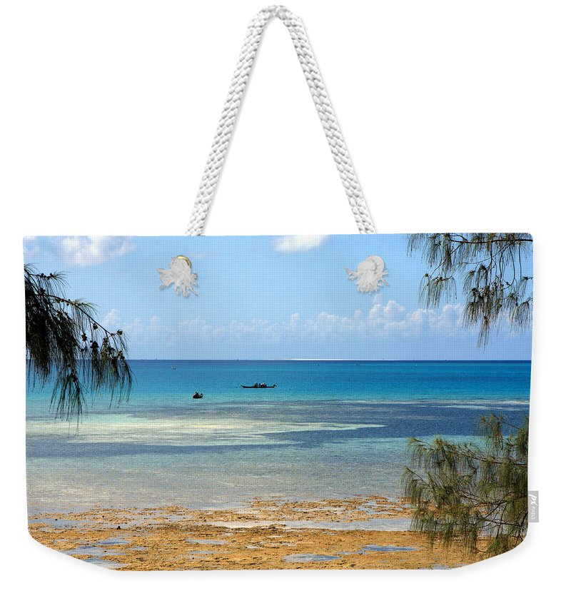 Africa Weekender Tote Bag featuring the photograph An African Paradise by Aidan Moran