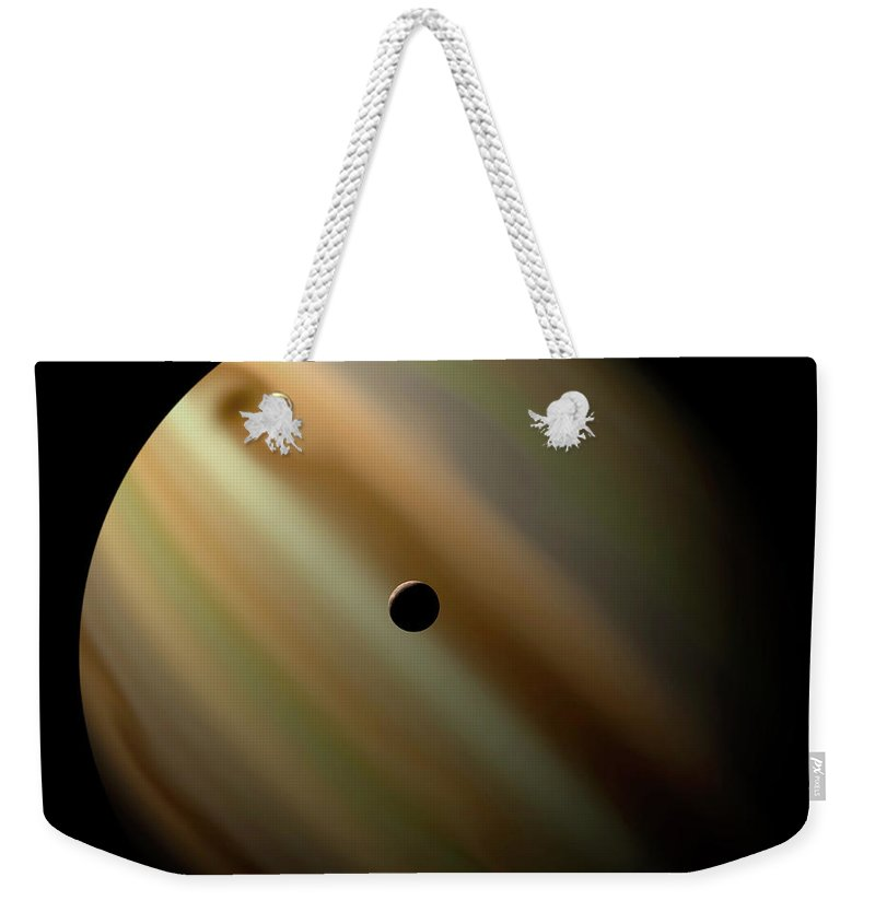 Concepts & Topics Weekender Tote Bag featuring the digital art An Artists Depiction Of A Gas Giant by Marc Ward/stocktrek Images