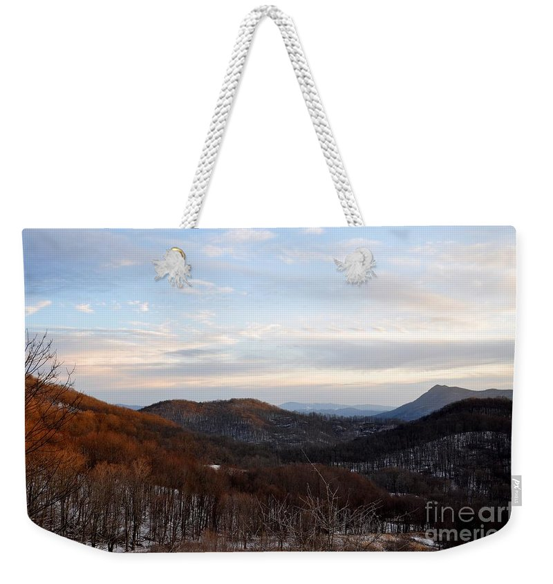 Landscape Weekender Tote Bag featuring the photograph An Elk Knob View by Christina McKinney