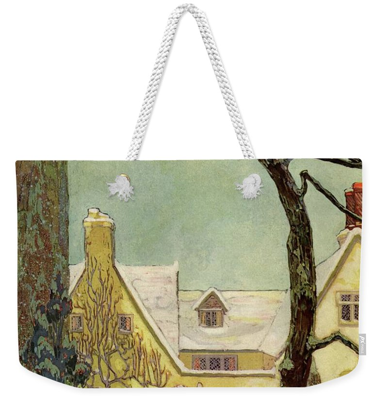 House And Garden Weekender Tote Bag featuring the photograph An English Country House by Porter Woodruff