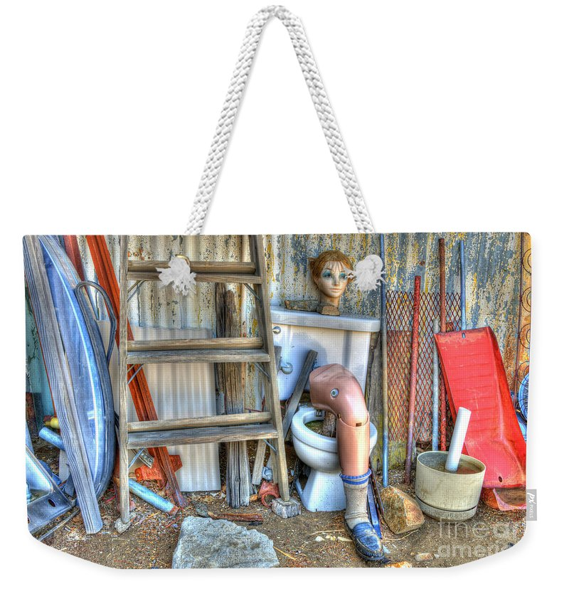 Odd Weekender Tote Bag featuring the photograph An Odd Assortment by Bob Christopher