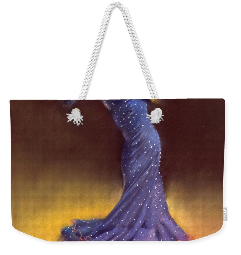 Pastel Weekender Tote Bag featuring the painting Ana Alonso by Margaret Merry