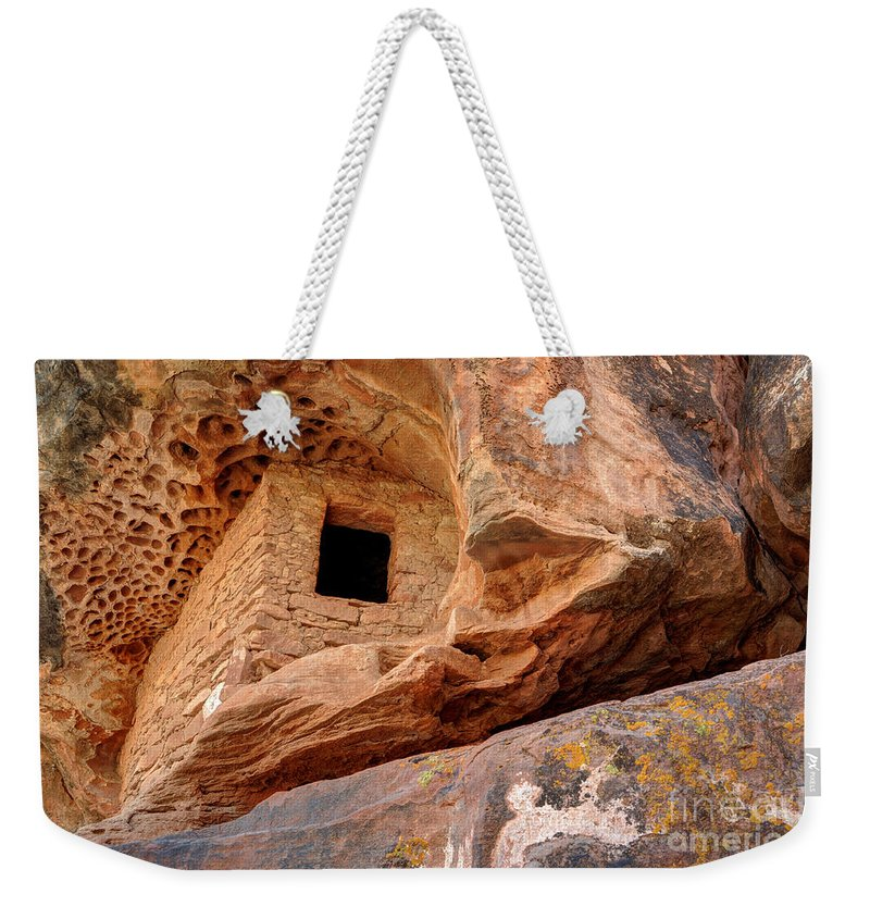 Ancient Weekender Tote Bag featuring the photograph Ancient Anasazi Honeycomb Granary Ruin by Gary Whitton
