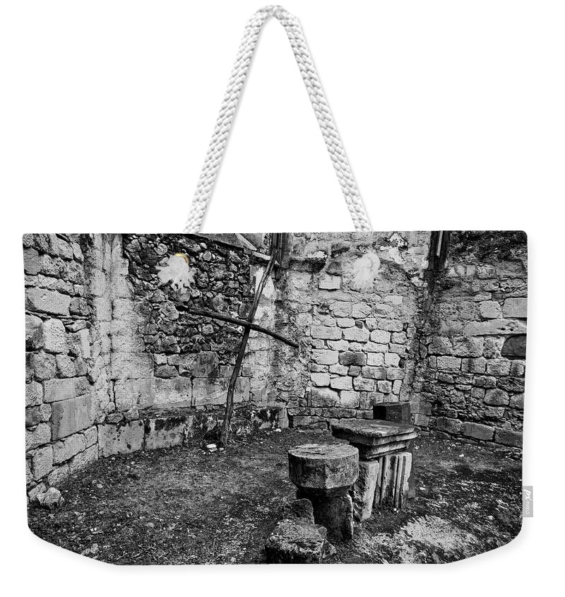 Ancient Weekender Tote Bag featuring the photograph Ancient Church by Ivan Slosar