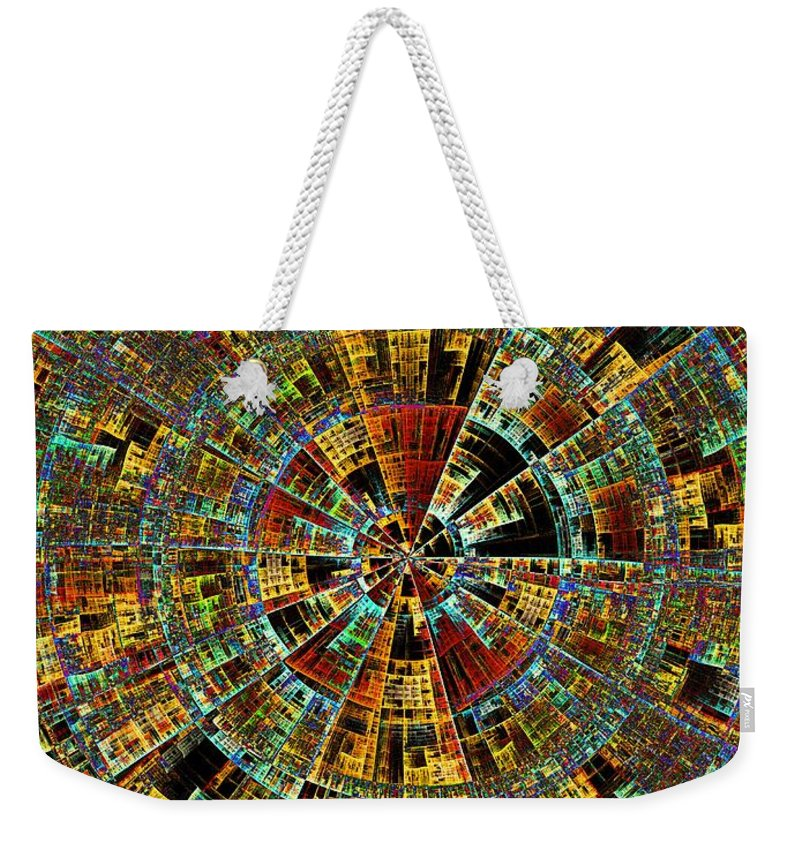 Abstract Weekender Tote Bag featuring the digital art Ancient City by Klara Acel