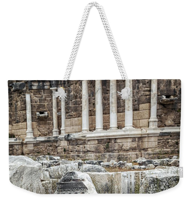 Architecture Weekender Tote Bag featuring the photograph Ancient Fountain by Sophie McAulay