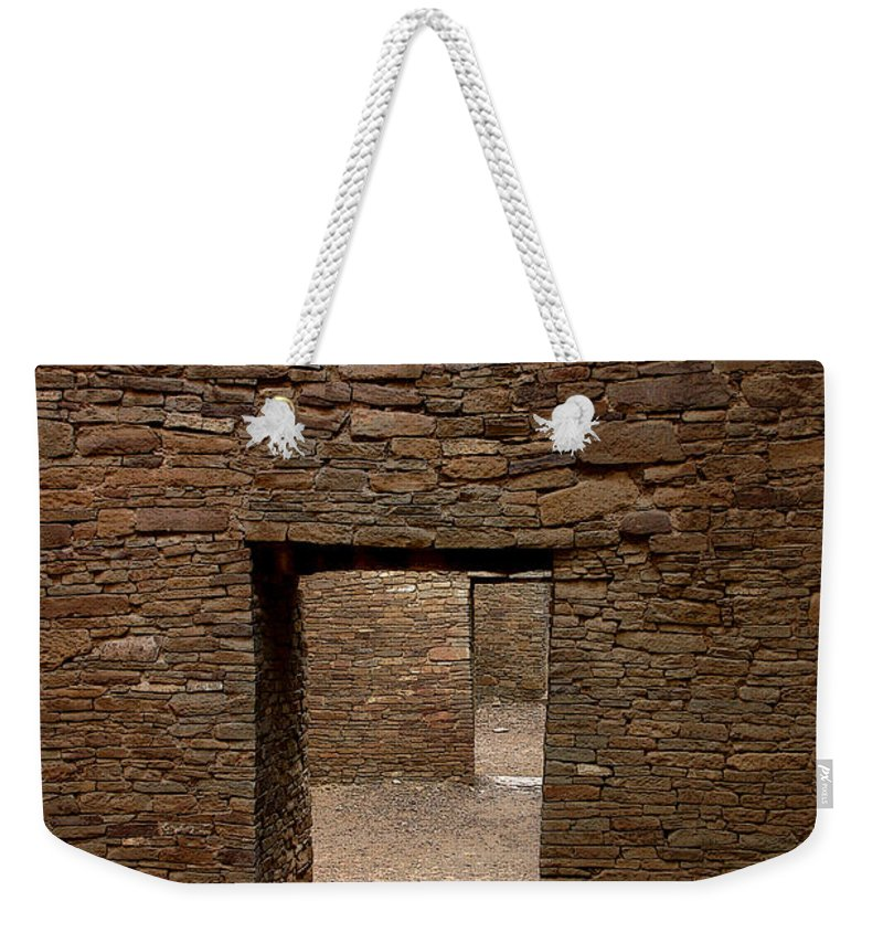 Anasazi Weekender Tote Bag featuring the photograph Ancient Gallery by Joe Kozlowski