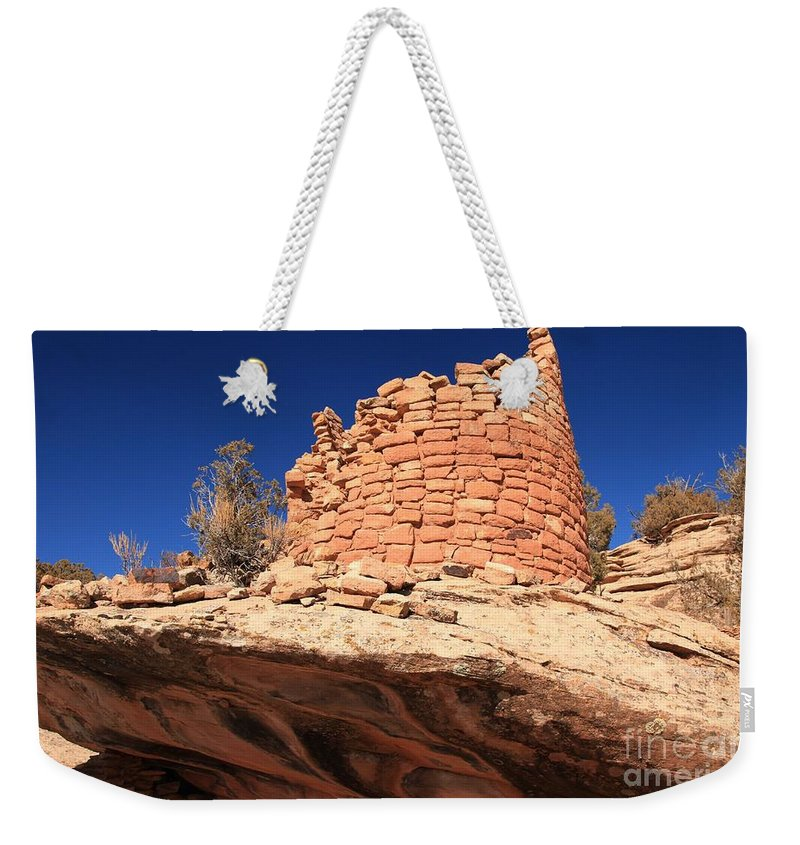 Canyon Of The Ancients Weekender Tote Bag featuring the photograph Ancient Pueblo by Adam Jewell