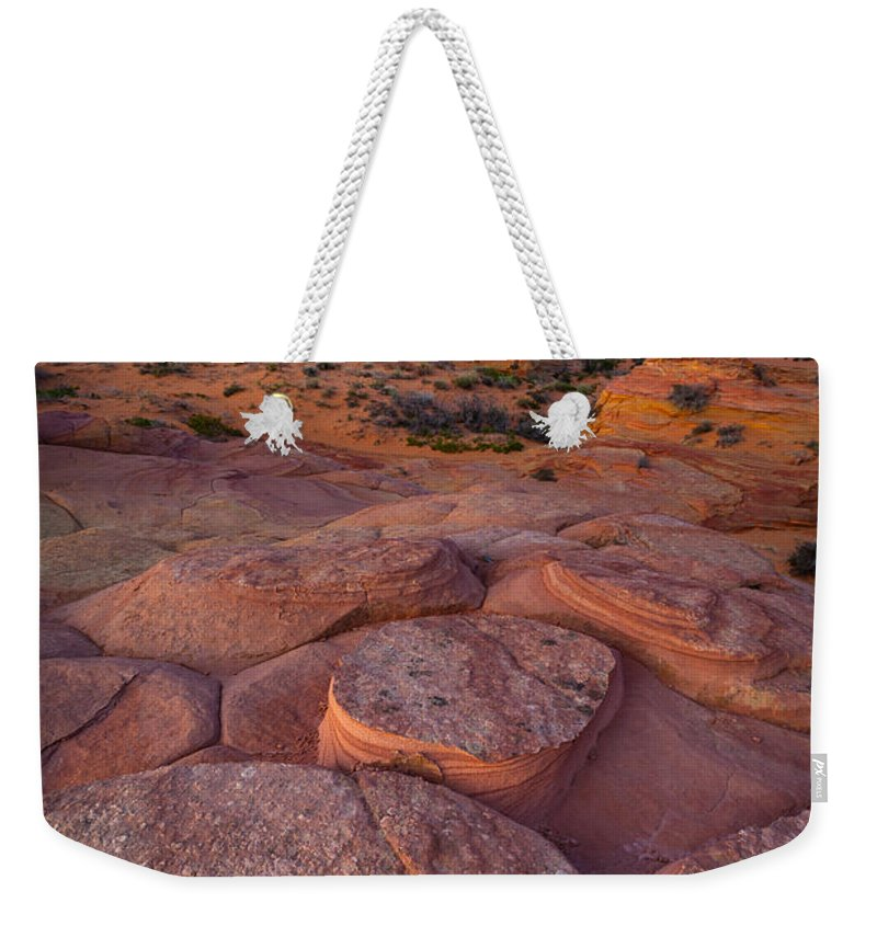 America Weekender Tote Bag featuring the photograph Ancient Seabed by Inge Johnsson