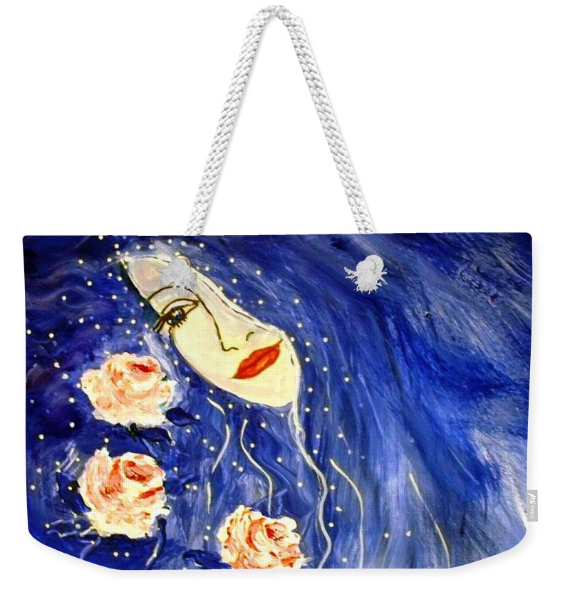 Love Weekender Tote Bag featuring the painting And Her Love Grows... by Robin Monroe