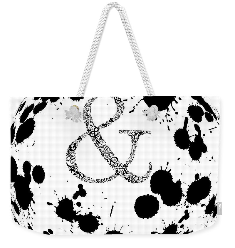 And Sign Weekender Tote Bag featuring the painting And Sign Splashes Sphere by Georgeta Blanaru