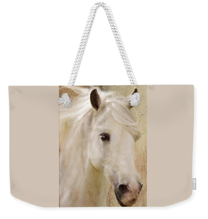 White Stallion Weekender Tote Bag featuring the photograph Andalusian Dreamer by Melinda Hughes-Berland