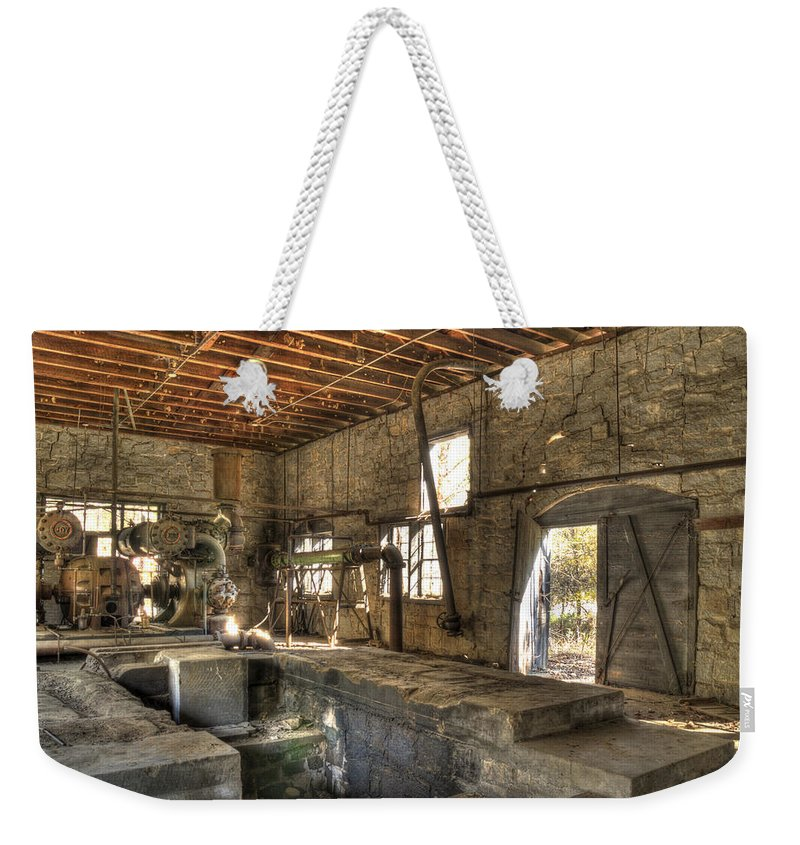 Quarry Weekender Tote Bag featuring the photograph Anderson Quarry-2 by Charles Hite