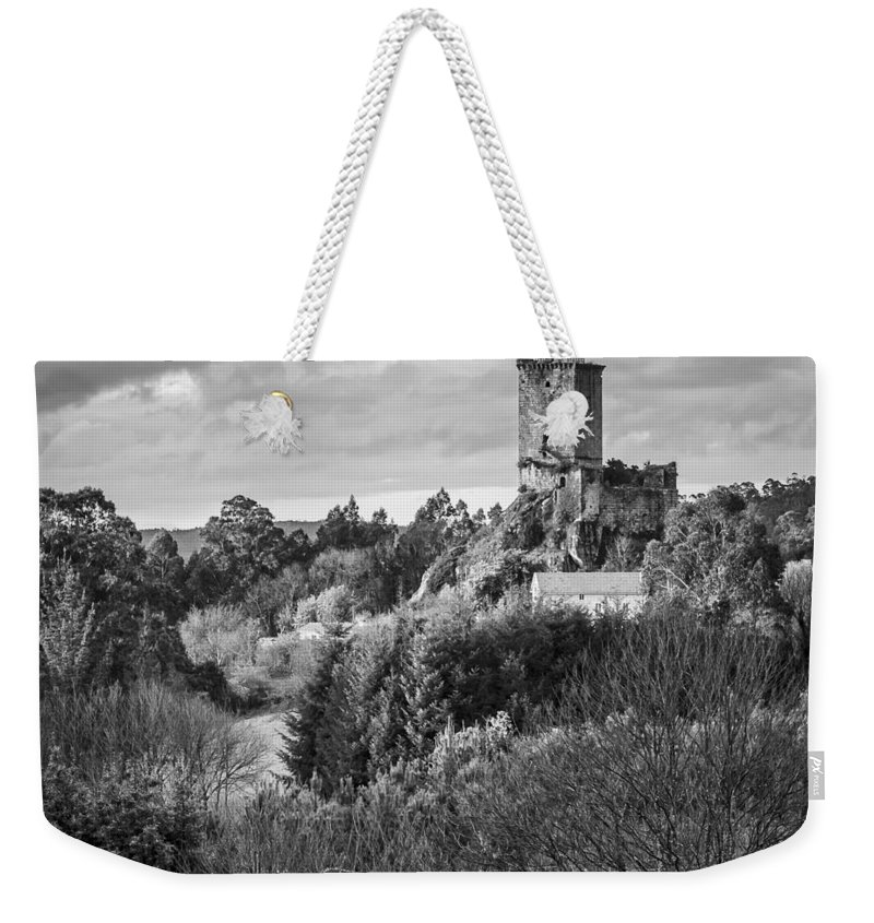 Galicia Weekender Tote Bag featuring the photograph Andrade's Castle Galicia Spain by Pablo Avanzini