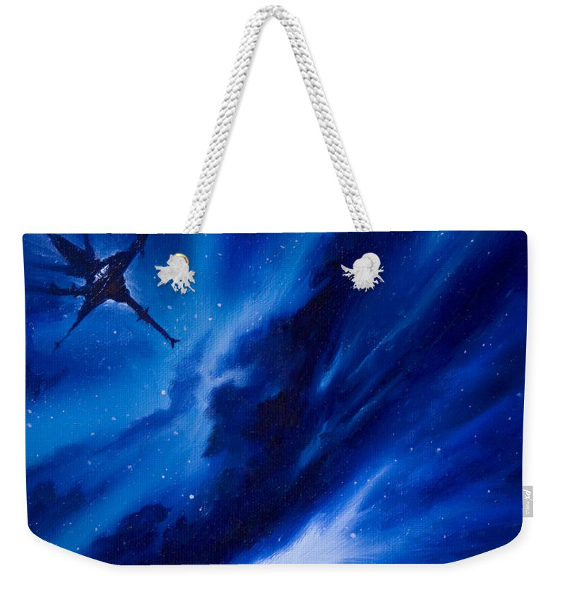 Stars Weekender Tote Bag featuring the painting Andreas Nebula by James Christopher Hill