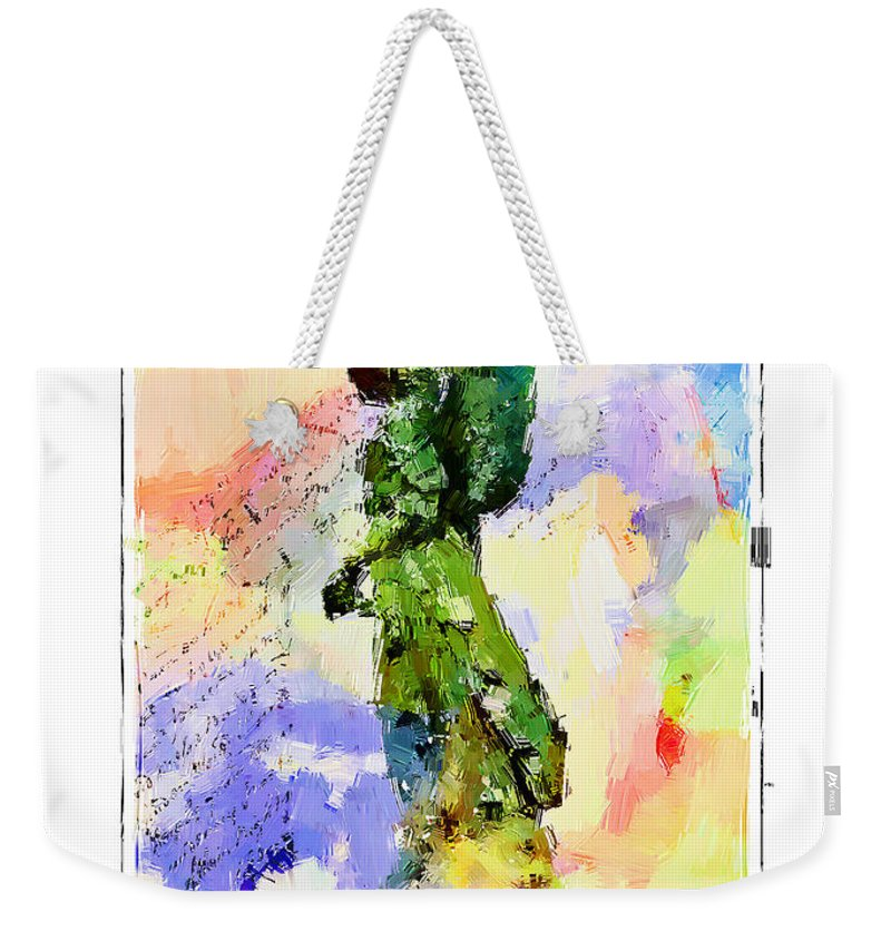 Angel Weekender Tote Bag featuring the photograph Angel Colors by Alice Gipson